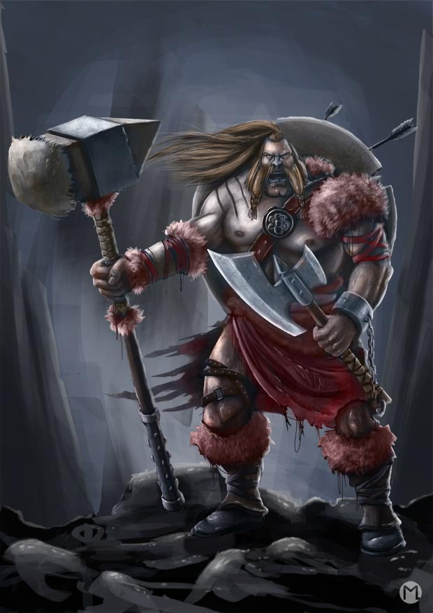 Barbarian Warrior - Barbarischer Krieger