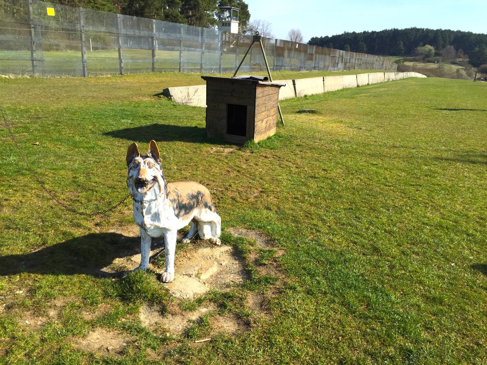 Mit Hunden war die Grenze damals gesichert. // Foto: Gömmer