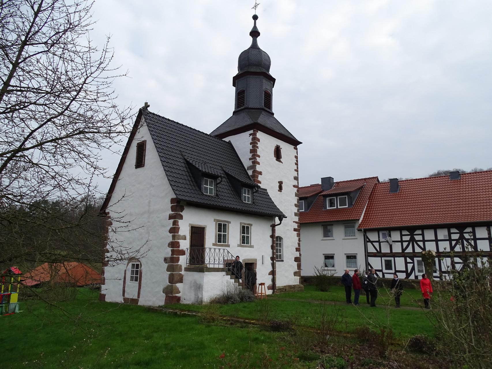 Kleinste Barock-Kirche Hessens in Bodes. // Foto: Hotop