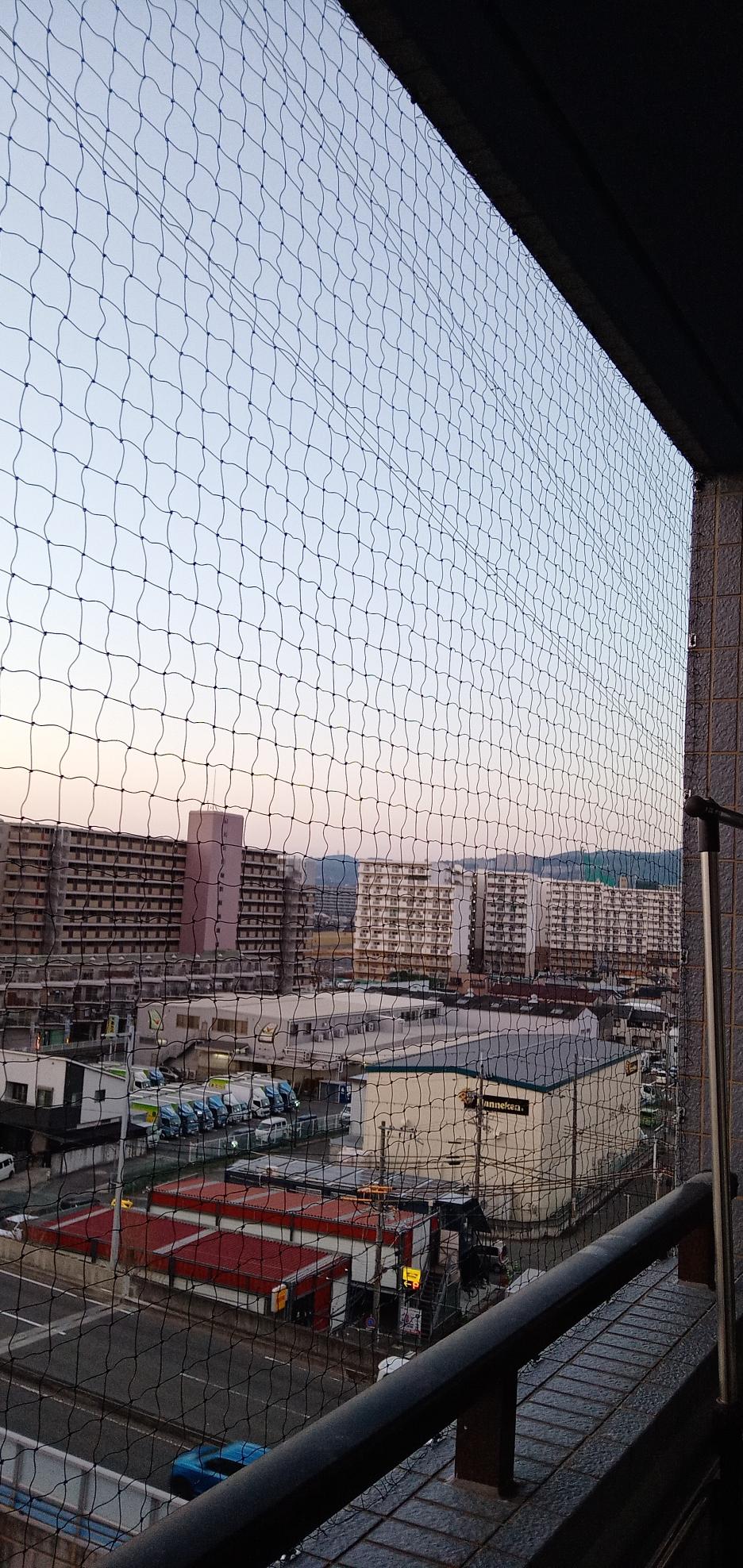 伊丹市での鳩よけネット施行
