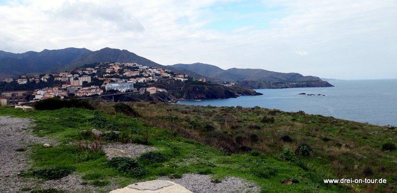 Ausblick auf die französische Küste