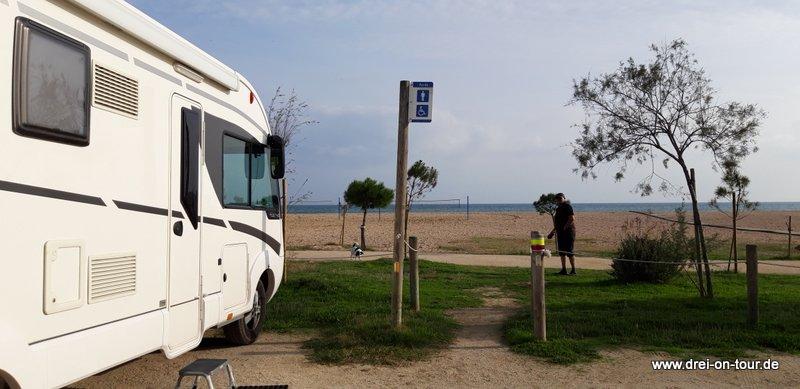 Platz direkt am Strand