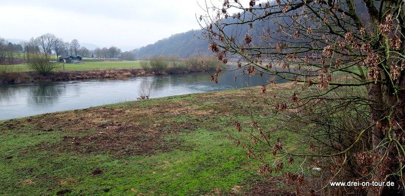 Spaziergang an der Weser - Mensch und Hund sind begeistert