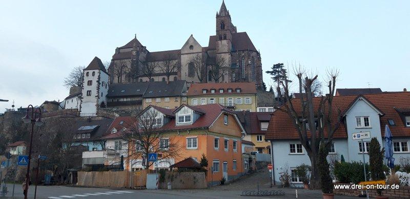 Blick auf das Breisacher Stephansmüster,  Baubeginn im 12. Jahrhundert