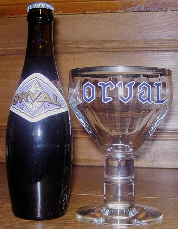 Orval - Bouteille et  verre d'Orval