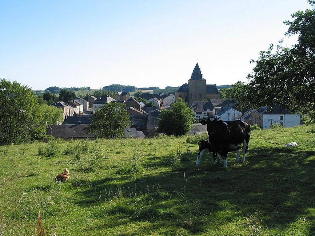 Sainte-Cécile - le village vu depuis la rue du Terme