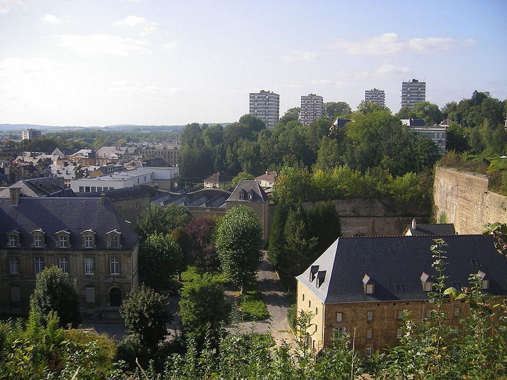 Sedan - Vue de Sedan nord depuis le château