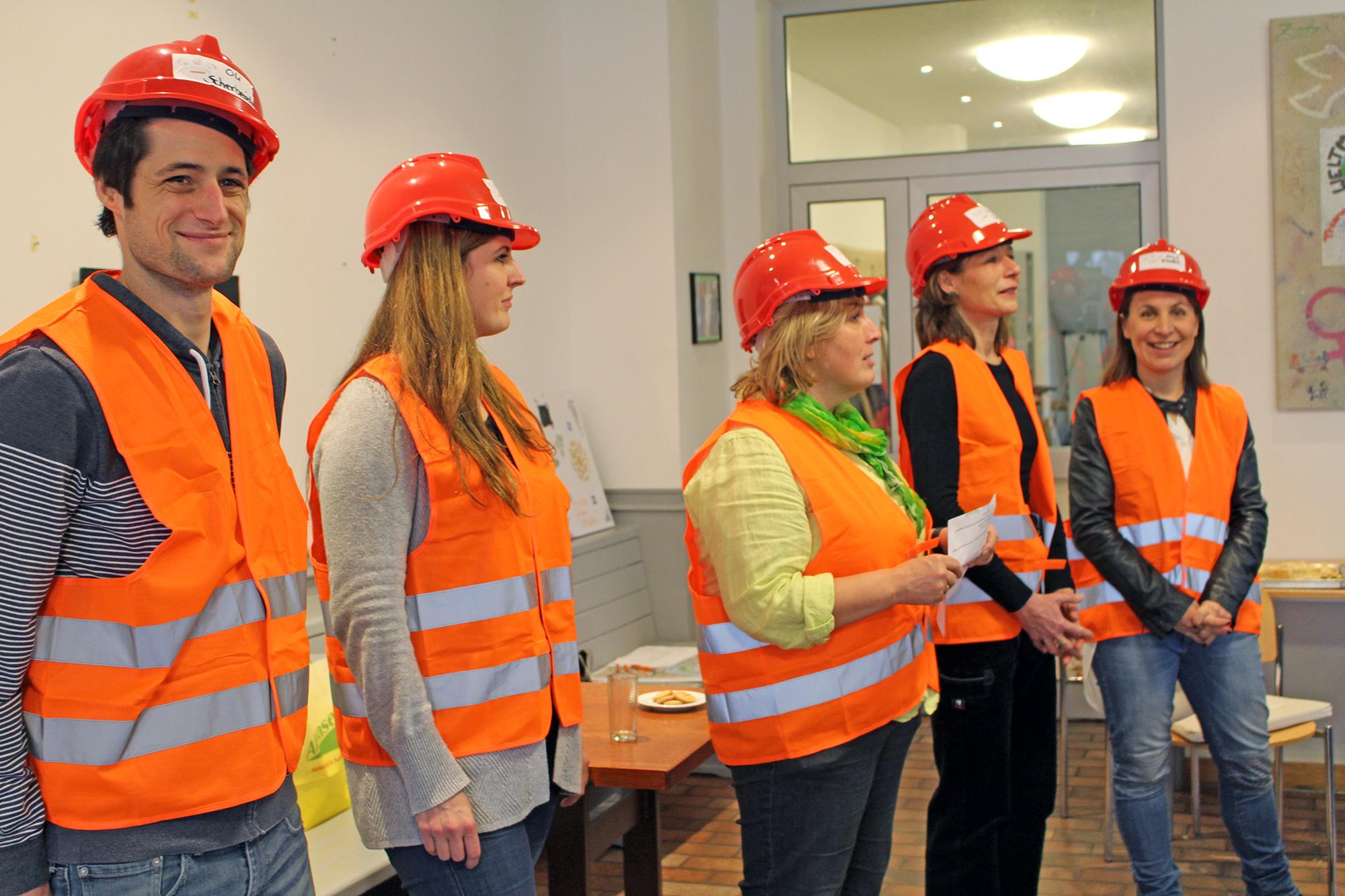Das Team: Oliver Scherberich, Tina Haut, Brunni Beth, Ursula Beck, Anja Florack