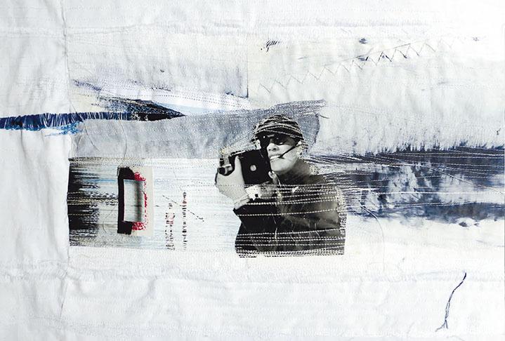 CAMÉRA AU POINT (collage, peinture, couture, broderie)