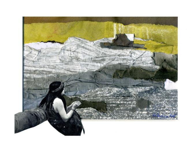 BATEAU IVRE (collage, peinture)