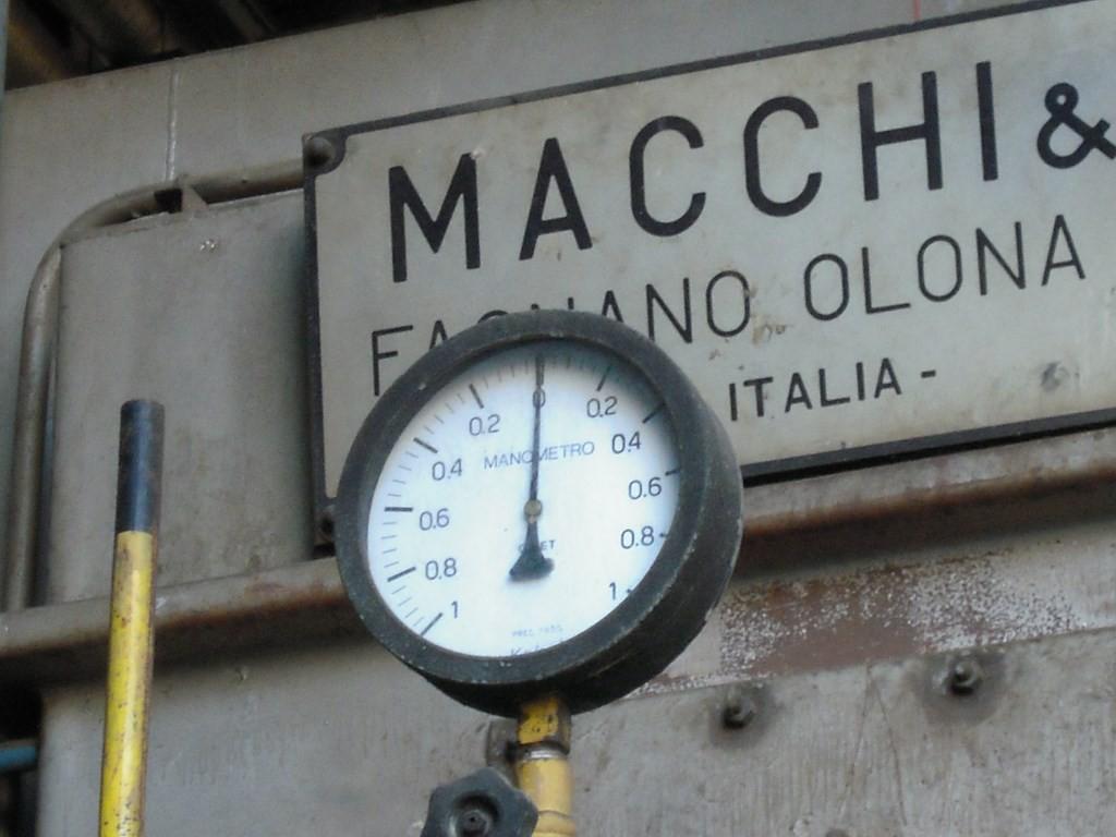 Pressodeprimometro su linea erogazione gas a bruciatore toroidale - Caldaia (oramai solo) didattica - Centrale A2A Lamarmora BS