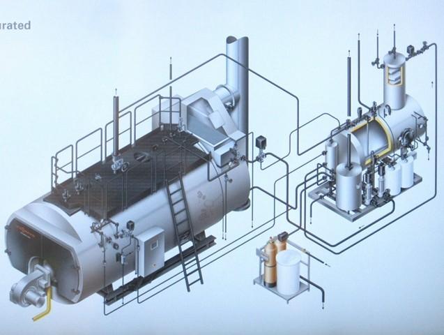 Schema impianto centrale termica (Viessmann).