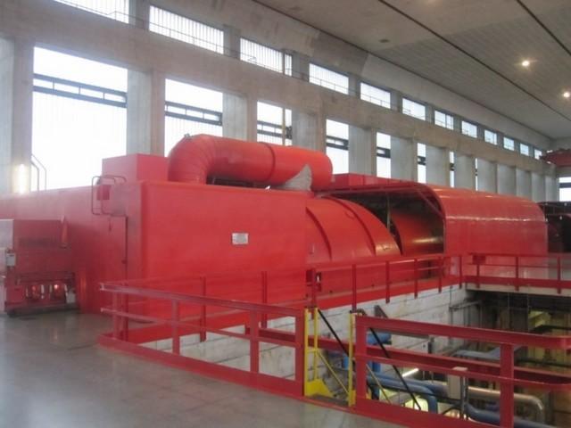 Turbina a vapore, centrali termoelettriche (Ponti sul Mincio)