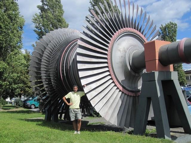 Turbina di stadio a bassa pressione di centrale nucleare (Philippsburg). Technik Museum Speyer (D)