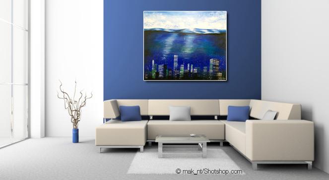 Oceancity - 100 x 100 cm