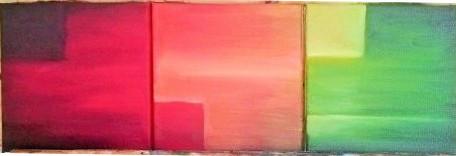 Huile sur toile. Format: 3 x 20x20cm