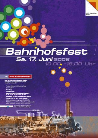 Bahnhofsfest Plakat von Christine Winghardt Friedrichshafen