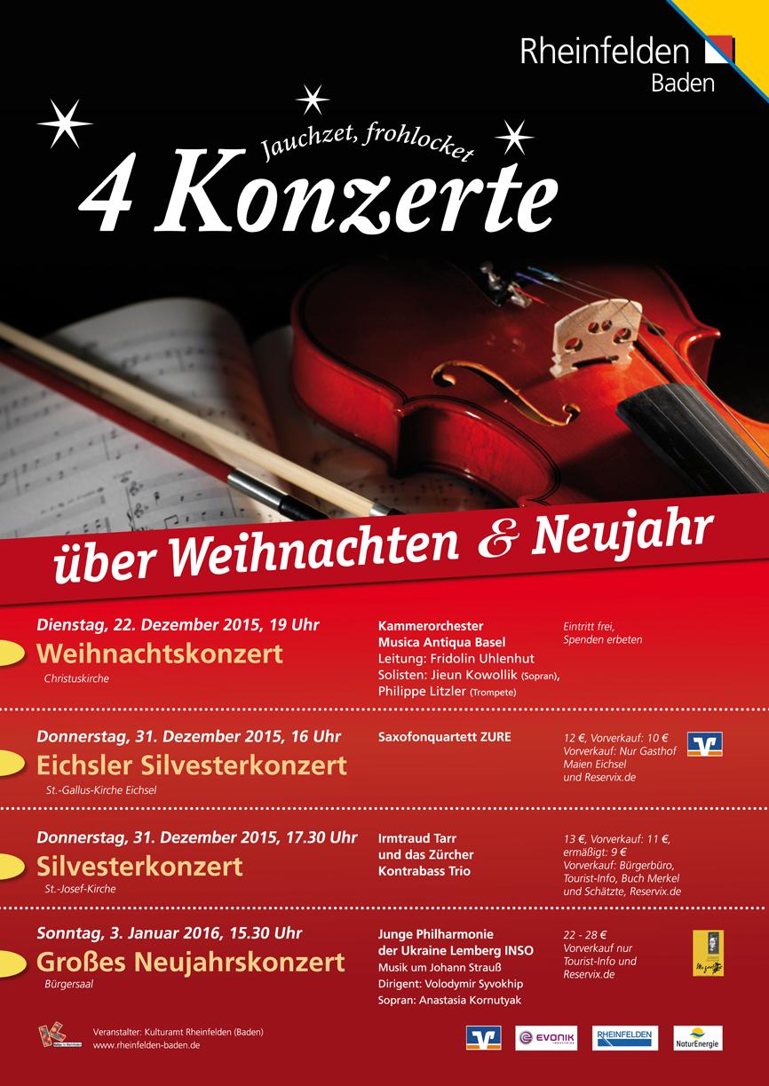Konzert Plakat von Christine Winghardt Friedrichshafen