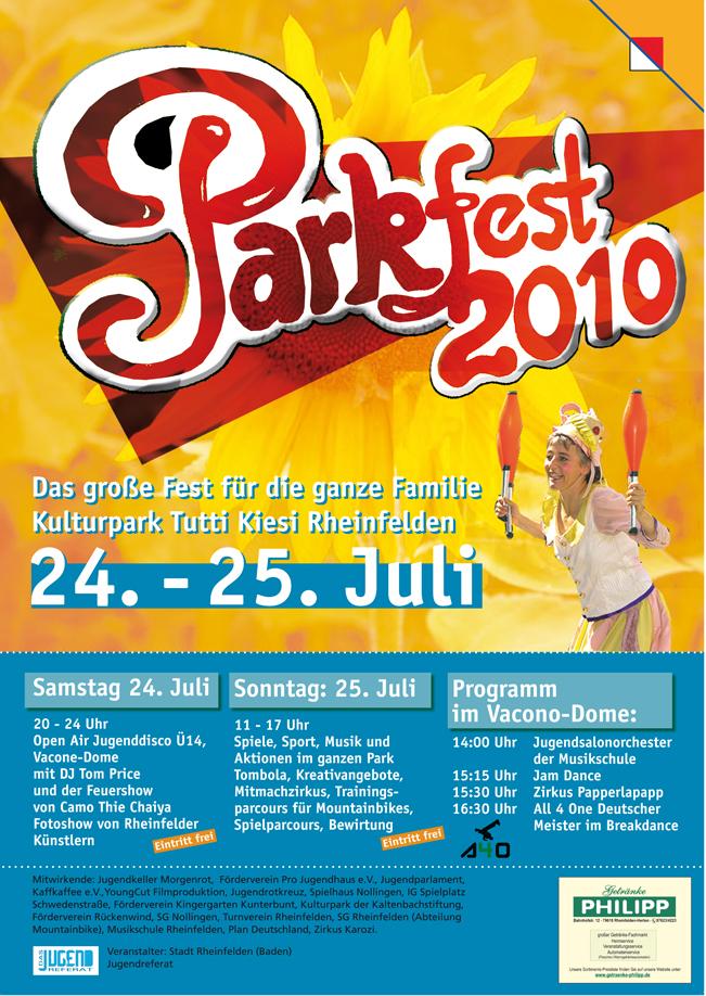 Parkfest Plakat von Christine Winghardt Friedrichshafen