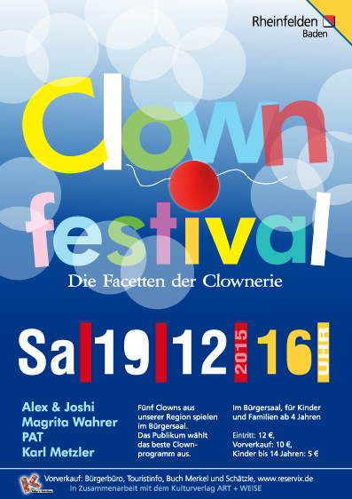 Clown Plakat von Christine Winghardt Friedrichshafen