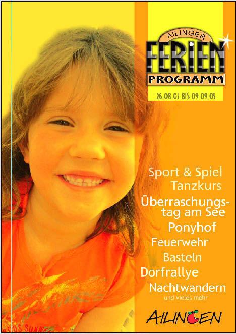 Ailingen Ferienprogramm Plakat von Christine Winghardt Friedrichshafen