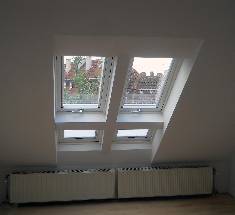 Galeriefenster von Roto nach Erneuerung mit Trockenbau