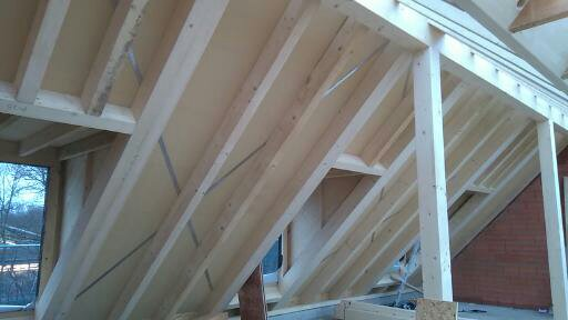 Dachstuhl mit Gutex Unterdach
