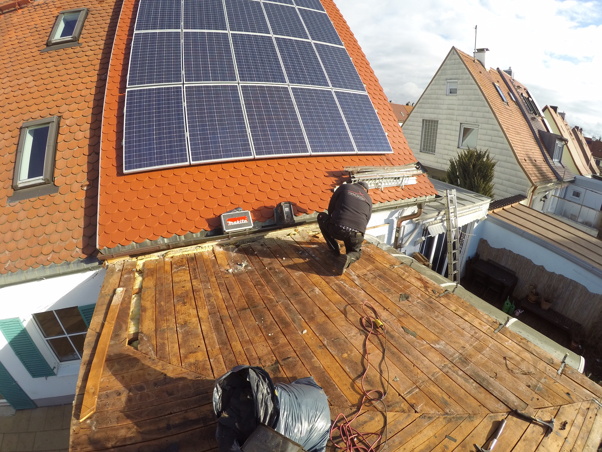 Freigelegte Dachkonstruktion