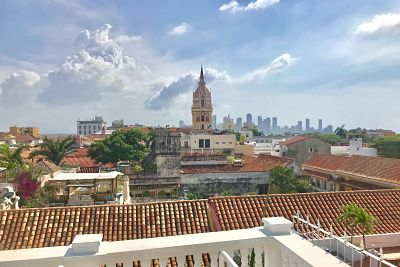 Cartagena seen from Terrace Hotel