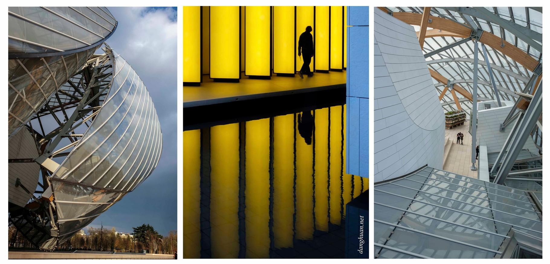 La Fondation Louis Vuitton dont  le bâtiment fut conçu  par Frank Gehry