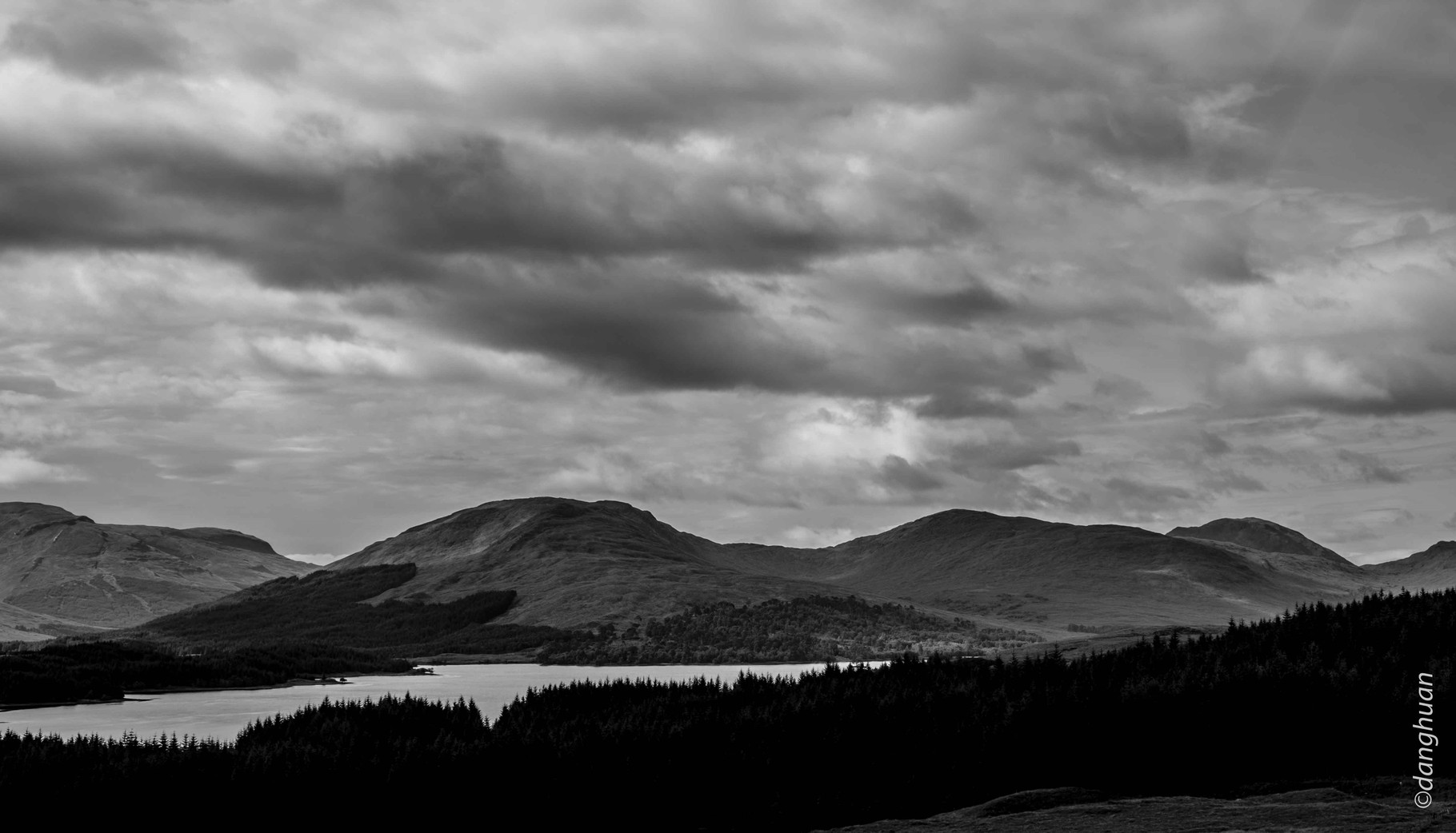 Paysages et ciel de Loch Lomond