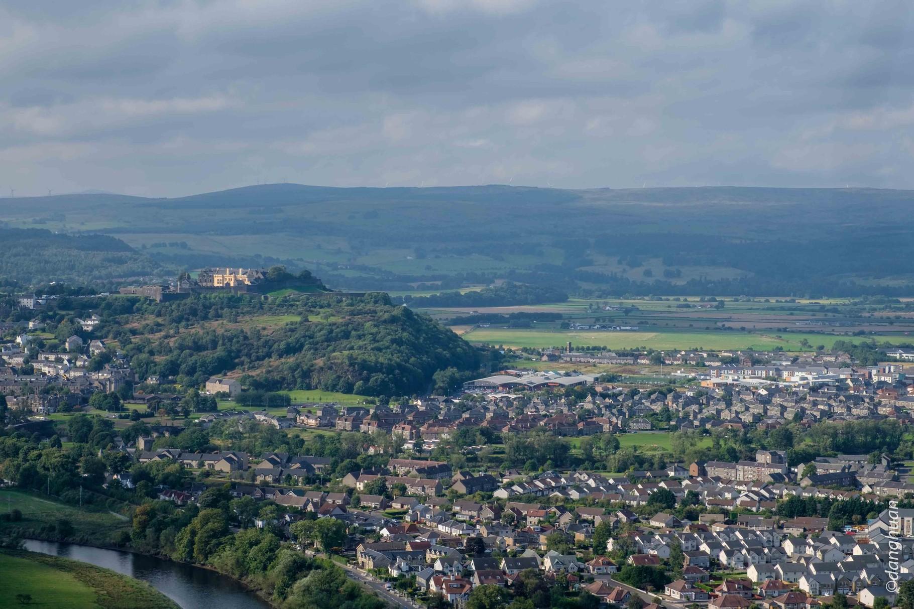 La ville et le château de Stirling qui a joué un rôle important dans l'histoire Ecossaise
