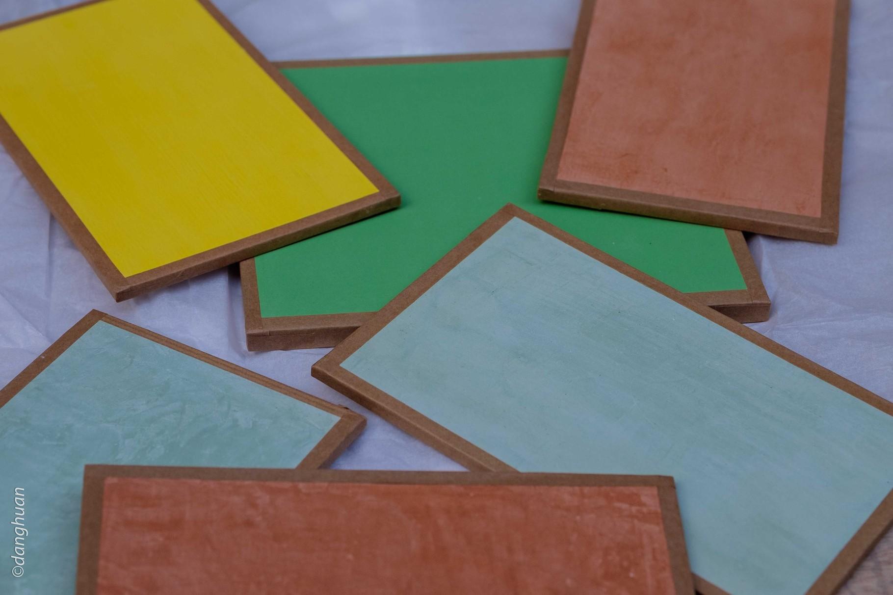 Palette de couleurs de peintures écologiques