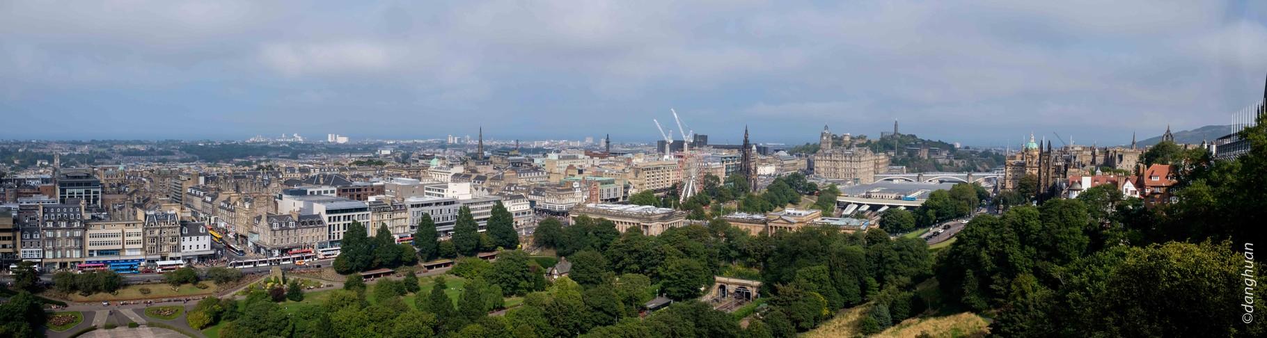 Panorama de New Town depuis le Castle
