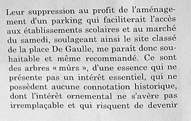 Bayeux - Rapport page 3 extrait