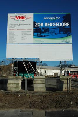 Miet-Bauschild - ZOB Bergedorf