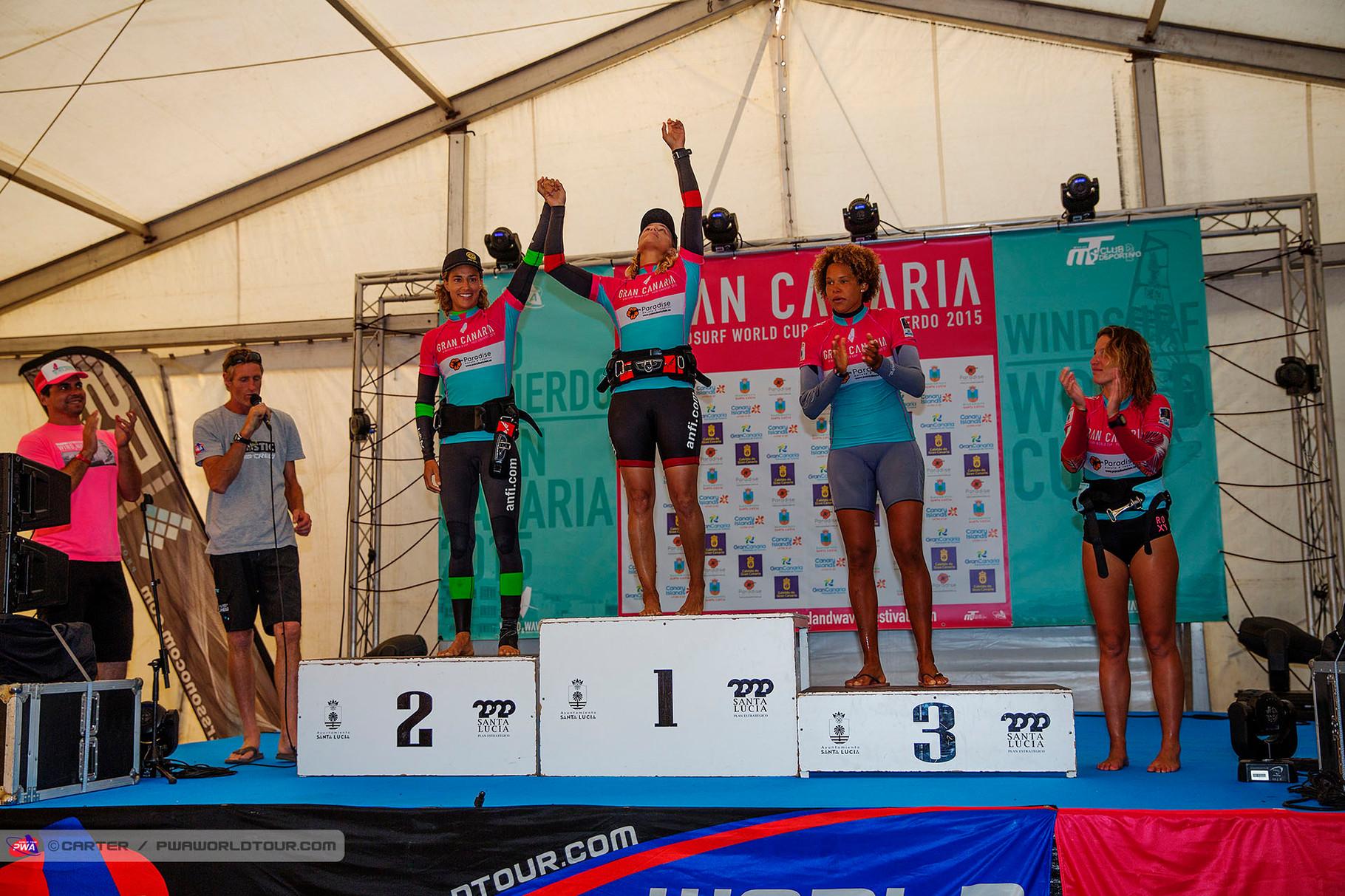 Winner Girls Single: 1. Daida Moreno, 2. Iballa Moreno, 3. Offringa, 4. Beenen