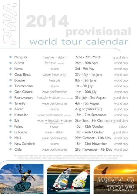 Der PWA Kalender 2014