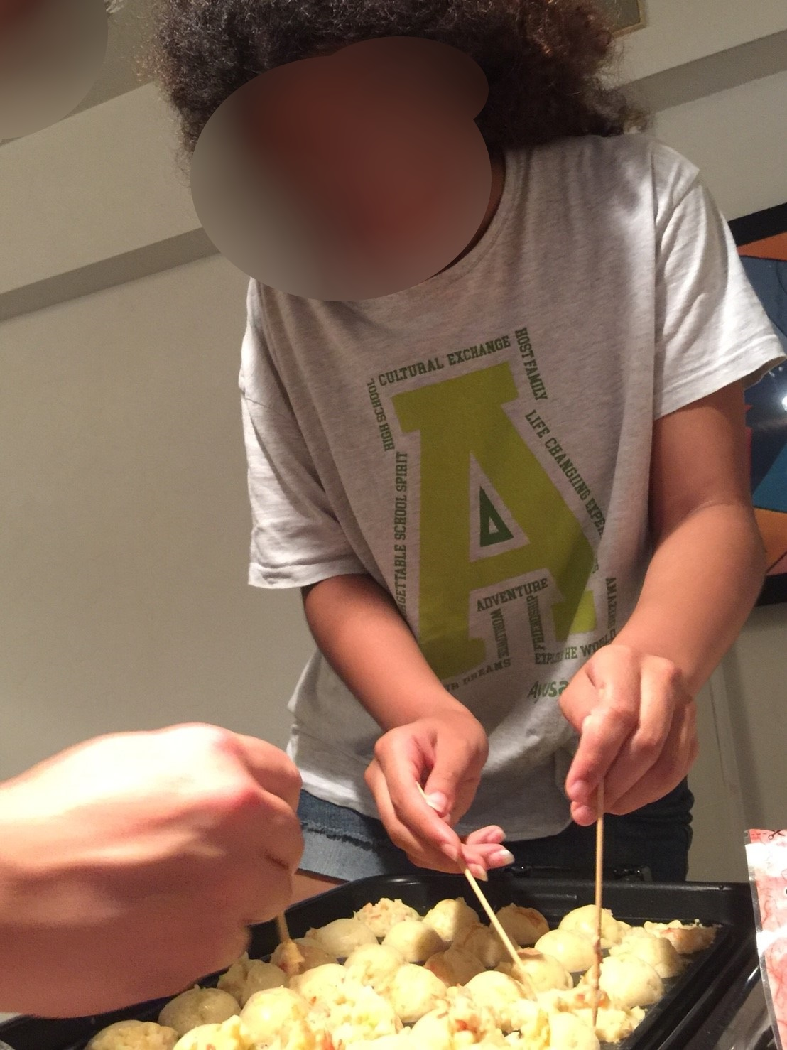 10 Me trying to make some Takoyaki wearing the AYUSA shirt (coincidence...?!)