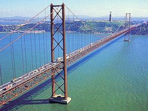 """The Bridge """"25th  April"""" over the Tejo"""""""