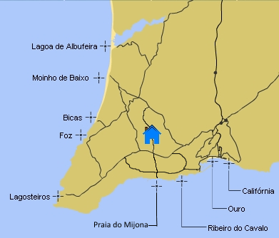 Map of the beaches