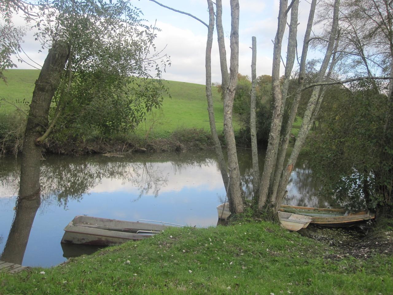 L'Evre, lieu d'embarcation pour le canoé