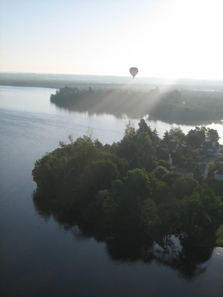 Balade en mongolfière au dessus de la Loire