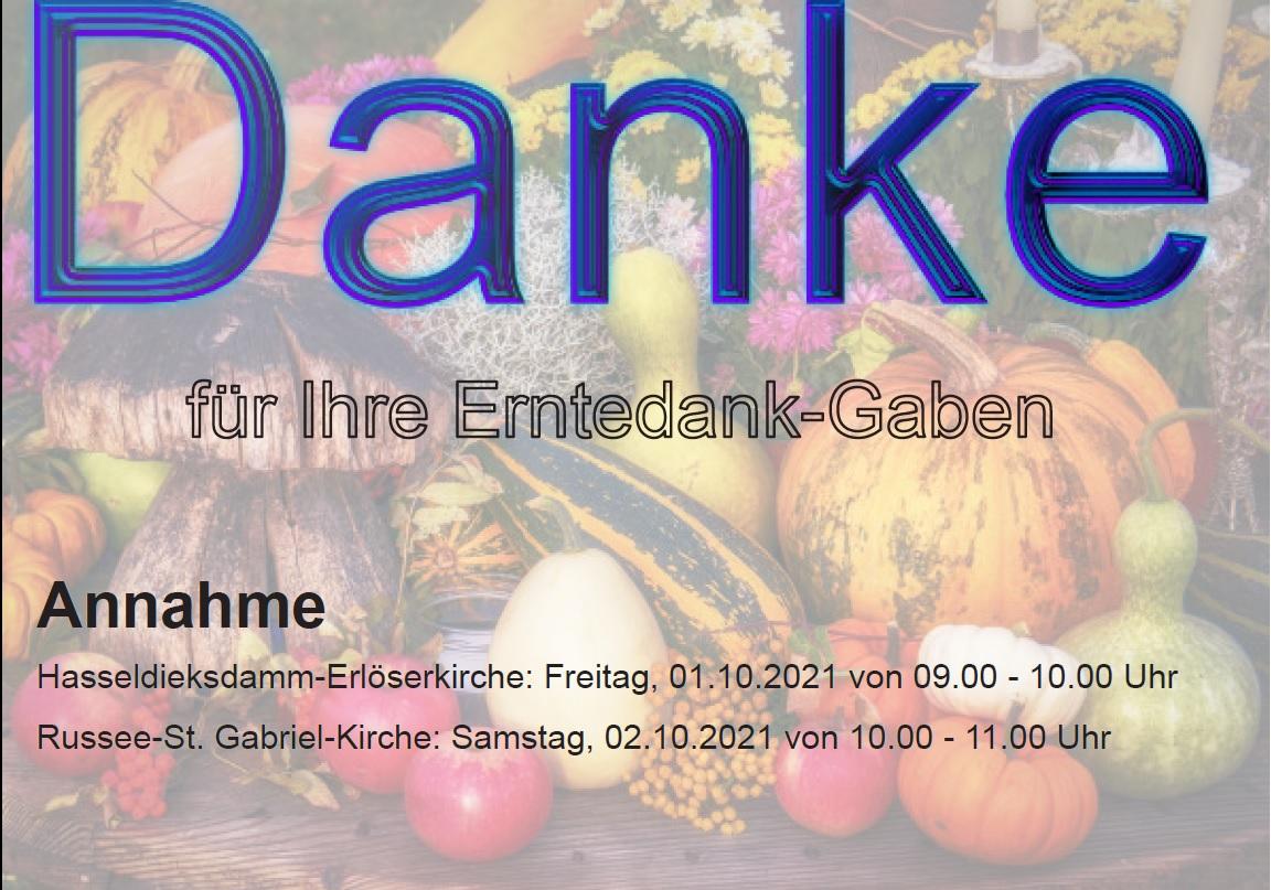 Erntedank-Gaben