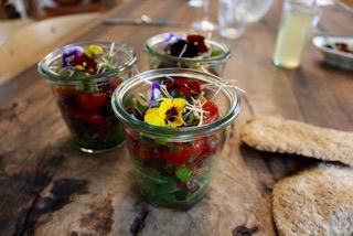 Bündnerfleisch-Salat mit Smörrebröd