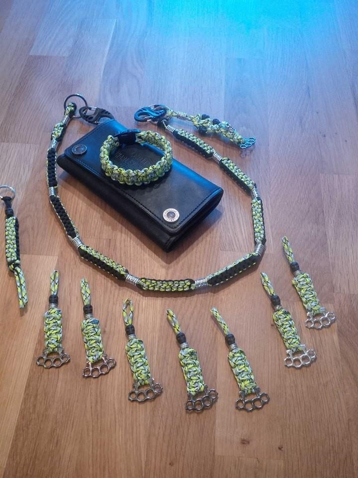 Set mit Armband Kette und Zipper