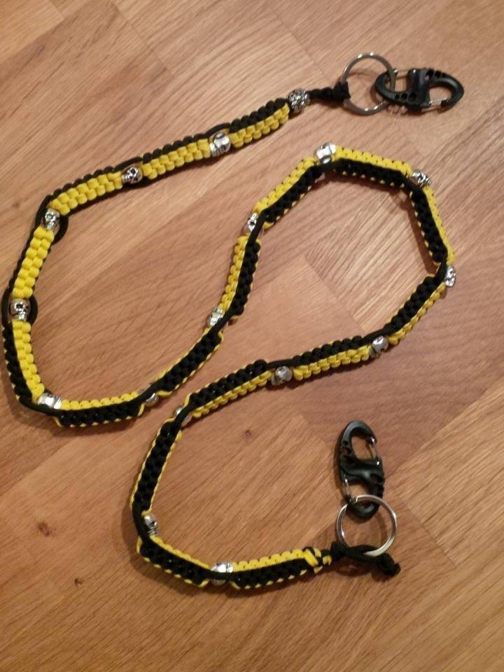 Wallet Chain oder Key chain auf Wunsch in allen Farbkombinationen möglich.