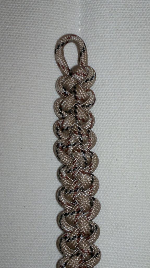 Zipper Sinnet Knüpfung als Armband