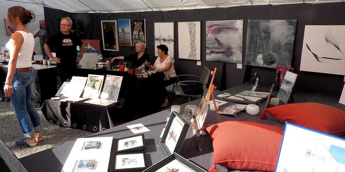 Kunstshow auf dem alten Markt
