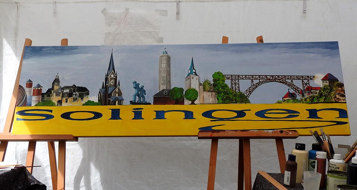 Von Solingern für einen guten Zweck gemalt und versteigert.